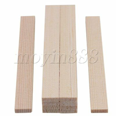 10 Pieces 100mm Length Square Balsa Pine Wood Strips for Model Making
