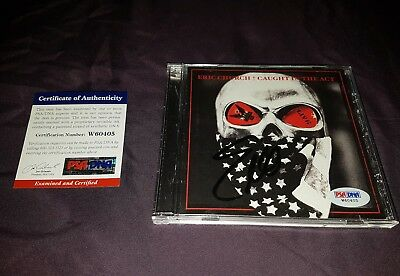 Eric Church Caught In The Act Live Signed CD PSA/DNA