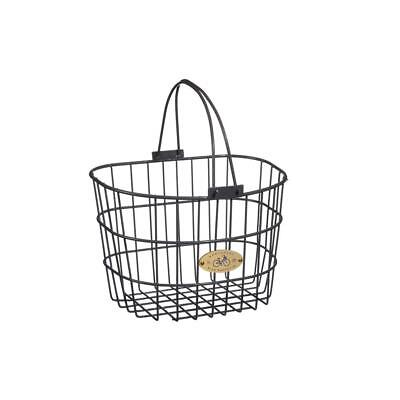 Powder Coated Charcoal Gray 13.25 x 10 x 9 Steel Adult Wire D-Shape Basket