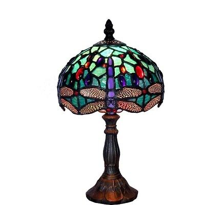 Tiffany-style Dragonfly Table Lamp Stained Glass Craftsman Home Decor