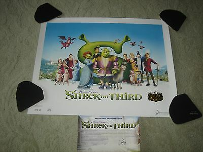 Shrek The Third Lithograph w/Certfication of Authenticity Rolled