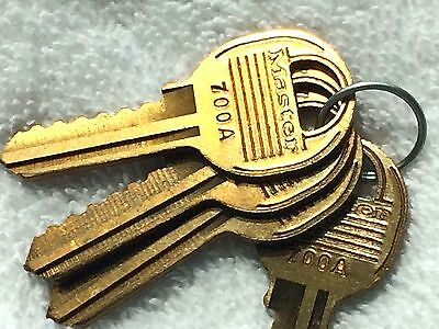 Original Set of 4 - MASTER 700A Keyway - 6 Pin Key Blanks Padlocks - Locksmith