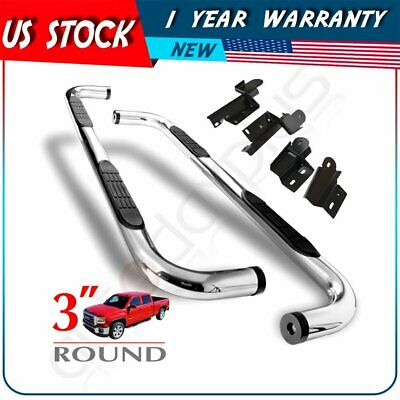 """Fit 09-14 Ford F150 Super/Extended Cab 3"""" S/S Side Step Nerf Bar Chrome SS A Set"""