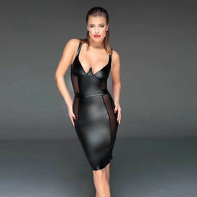 NOIR HANDMADE Wetlook Cocktail-Kleid Aufregende Transparente Einsätze Hot Dress