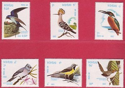 1982 Laos Birds Set of 6 UM SG 539 to 544