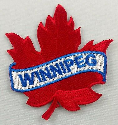 Winnipeg Maple Leaf Patch Embroidered Iron On Applique