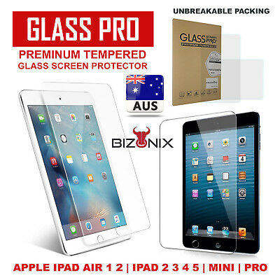 Tempered Glass Screen Protector for Apple iPad 4 3 2 Air Mini Pro 2018 5th Gen
