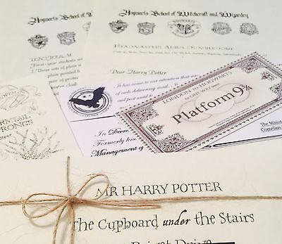 Harry Potter Personalised  Acceptance Letter - FREE Marauders map FREE Bracelet