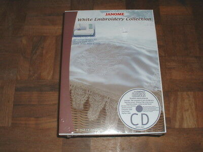 Janome White Embroidery Collection CD-ROM for Memory Craft NEW & Sealed