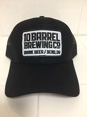 10 Barrel Brewing Co. Black Snapback Trucker Hat. Brand New With Tag
