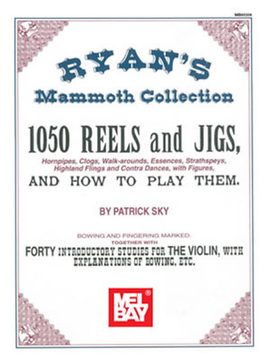 """Ryan's Mammoth Collection """"1050 Reels And Jigs"""" Violin/fiddle Music Book-New!!"""