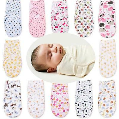 Swaddle Wrap Baby Blanket Newborn Infant Sleeping Bag Sack Cotton For 0-6 Months