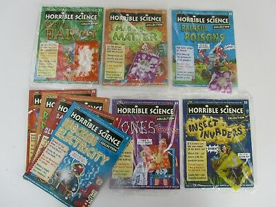 HORRIBLE SCIENCE Magazines BRAND NEW UNOPENED Nos. 11,12,13,14,15  opened Nos. 5