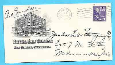 MID 20th Century HOTEL advertising envelope/cover - Hotel Eau Claire, Wisconsin