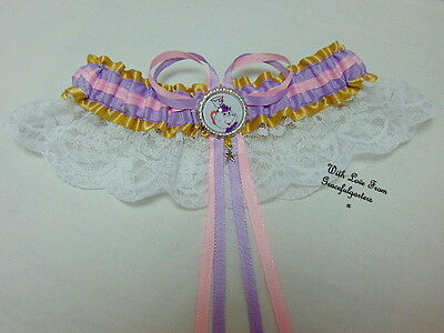 Disney Mrs Potts, Chip, Lumiere Beauty and the beast  Lace Bridal Wedding Garter