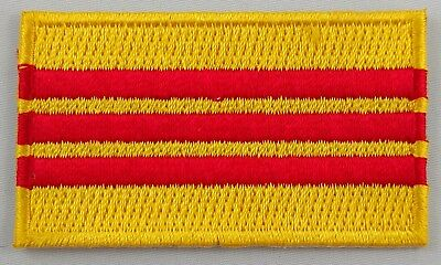 Vietnam South Flag Patch Embroidered Iron On Applique Vietnamese