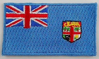 Fiji Flag Patch Embroidered Iron On Applique Fijian