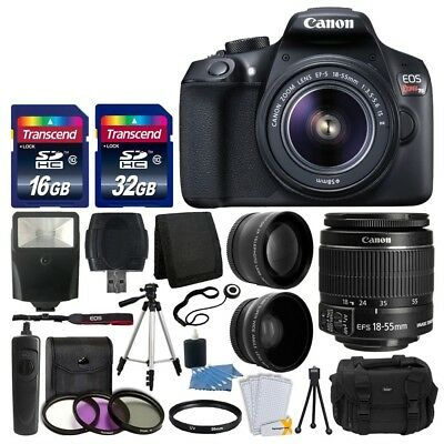 Canon EOS Rebel T6 Digital SLR Camera with 18-55mm EF-S f/3.5-5.6 IS II Lens + 5