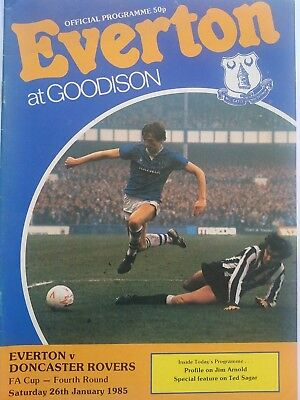 Everton v Doncaster Rovers FA Cup 4th Round 26/1/1985