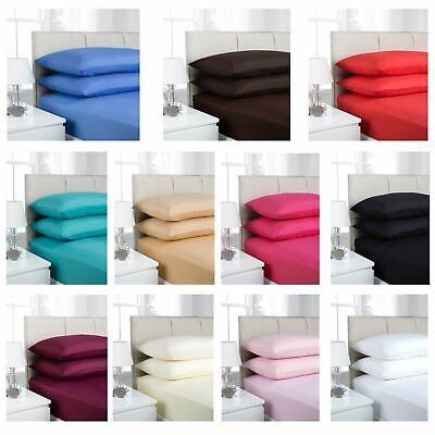 Luxury Fitted Sheets Percale Single Double King Super King Size Polycotton Cheap