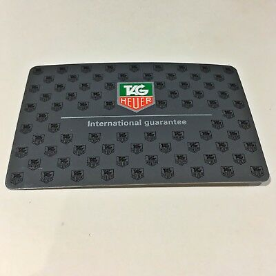 Tag Heuer Guarantee Warranty Card Stamped