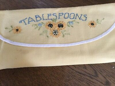 vintage Yellow Tablespoon Holder