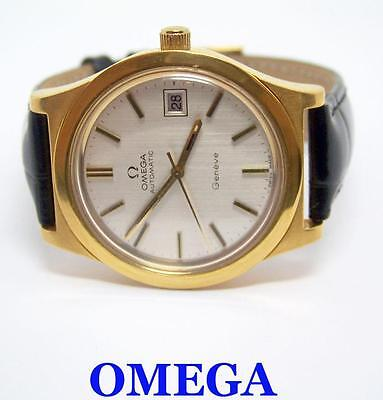 Vintage Gold Color OMEGA GENEVE Automatic Watch 1970s Cal.1012* EXLNT* SERVICED