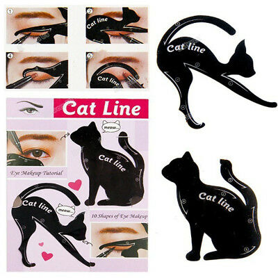 Makeup Guide Cat Eye Line Eyeshadow 2pcs/Set Cat Eyeliner Stencils Templates