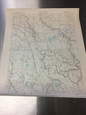 Vintage color topographical map of the San Luis Ranch Quadrangle, Merced County