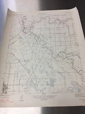 Vintage color topographical map of the Gustine Quadrangle, Merced County, CA