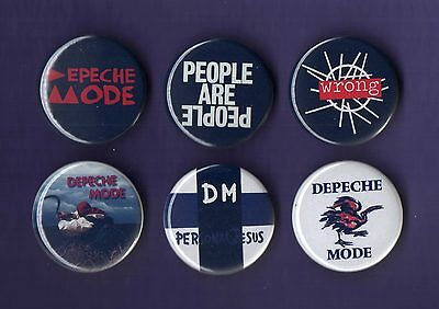 DEPECHE MODE 31mm Badge Badges Set 7 - FREEPOST
