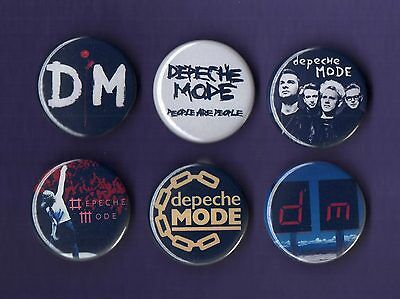 DEPECHE MODE 31mm Badge Badges Set 6 - FREEPOST - Buy 1 Buy the Set you Choose