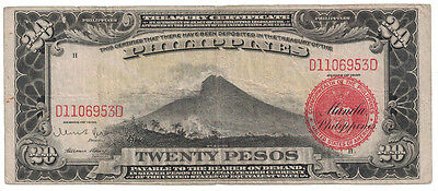 Philippines - Series of 1936 20 Pesos Banknote
