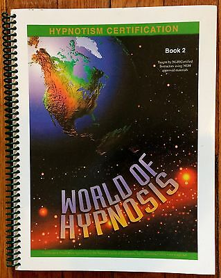 WORLD OF HYPNOSIS Book 2 Hypnotism Certification NGH National Guild Hypnotists