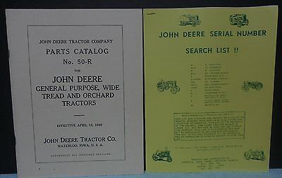 John Deere GP General Purpose Tractor Parts Book Reprint 1940