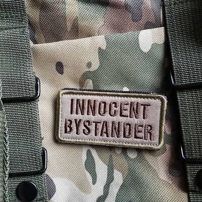 Innocent Bystander Isaf Us Army Military Badge Swat Hk/lp Patch Embroidered Tan