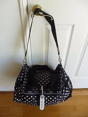 LeSportsac CR Large Weekender Sun Multi Black C Tote NEW WITH TAGS