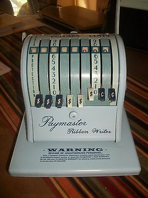 VIntage Series 8000 Paymaster Ribbon Writer Check Imprinter The Paymaster Corp
