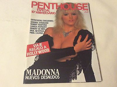 PENTHOUSE 122 MAYO 1988 MADONNA 13 PAGES 20 PHOTOS Magazine Spanish VINTAGE