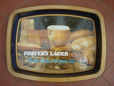 Foster's Lager Carlton United Brewery  Metal Beer Tray