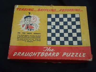 The DRAUGHTBOARD Puzzle by Theydon Games London 1950s