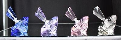 Crystal Glass Perfume Bottle ( blue, purple or pink) with Gift box