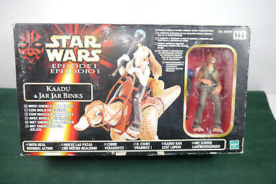 STAR WARS Episode I - Kaadu & Jar Jar Binks Actionfigur HASBRO mit OVP (L)