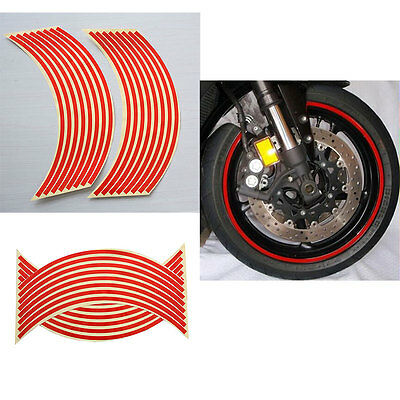 "18"" Motorcycle Car Wheel Rim Reflective Metallic Stripe Tape Decal Sticker 5HUK"