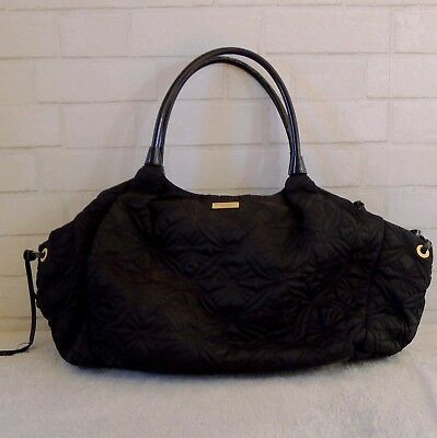 Authentic Kate Spade Diaper Bag Tote Black With Red Changing Pad Stevie