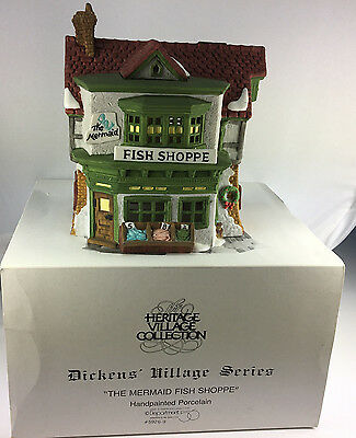 Dept. 56 Heritage Village Dickens' Series  The Mermaid Fish Shoppe 5926-9 HP BOX
