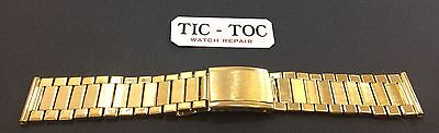 18mm TREND PRODUCT Gold Plated Metal Watch Strap Gold Color