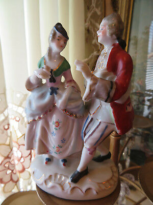 Vintage Victorian Man And Women Ceramic Figurine Made In Occupied Japan