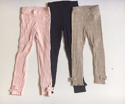 Girls Leggings Warm Ribbed Sizes From 18 Mths To 8 Years