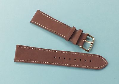 Swiss Emporio Genuine Leather Watch Strap 22mm  Tan Brown